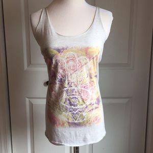 Hamsa printed graphic tank top
